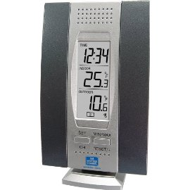 The Weather Channel WS-7013TWC Wireless Temperature Station - Blue/silver