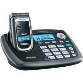 Uniden CellLink ELBT595 5.8 GHz Digital Expandable Cordless Flip Phone with Color LCD, Answering System, and Bluetooth Capability