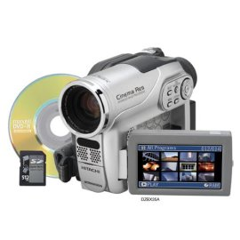 Hitachi DZ-BX35A DVD Camcorder with 25x Optical Zoom - Silver / Black