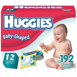 Huggies Baby-Shaped Diapers with Gigglastic Waistband, Size 1-2 (up to 15 lb), Disney, 192 diapers