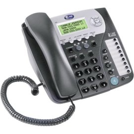 AT&T 992 Two-Line Corded Speakerphone with Caller ID - Espresso
