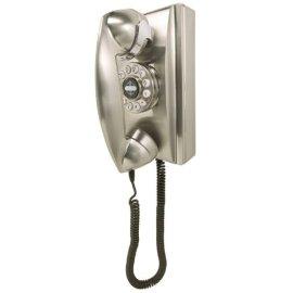 Crosley 302 Wall Phone CR55-Brushed Chrome
