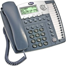 AT&T 984 Small Business System Speakerphone with Digital Answering System and Caller ID/Call Waiting - Titanium Blue