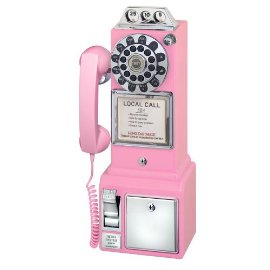 Crosley CR56 1950's Pay Phone - Hot Pink