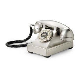 Crosley 302 Desk Phone CR60-Brushed Chrome