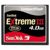 SanDisk SDCFX3-4096-901 4 GB Extreme III CompactFlash Card