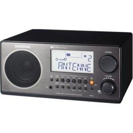 Sangean WR-2 Digital AM/FM Tabletop Radio, Black - Black Piano Finish