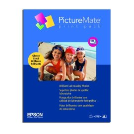 Epson PictureMate Print Pack (2 Ink Cartridges/270 sheets of Glossy Photo Paper) - T5570-270