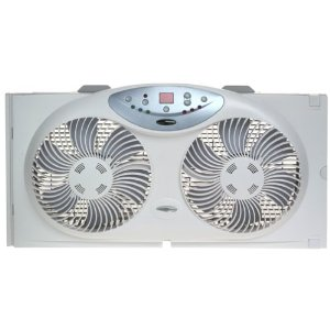 Bionaire BW2300 Twin Window Fan with Remote Control