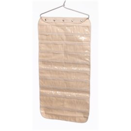 Whitney Design 80-Pocket Cotton Canvas Jewelry Organizer - Natural
