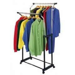 Double Flared Garment Rack - (Black and Steel)