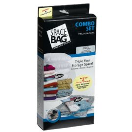 ITW Space Bag BRS-6239 Storage Bag Combo Pack: 3 Pack - 1 Medium Size, 1 Large Size and 1 Extra Large Size Bag - Clear
