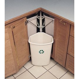 Trash Recycling Bins And An Open Space So You Can Close The Cabinet
