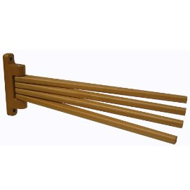 Wooden Swing-Arm Towel Rack