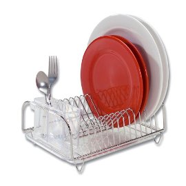 Compact Dish Drainer 3 Piece Set - Stainless Steel
