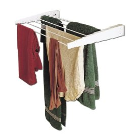 Whitney Design Wall Mount Telescoping Indoor Drying Rack - White