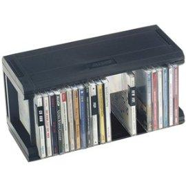Allsop - Storage CD cabinet - 25 CD - black