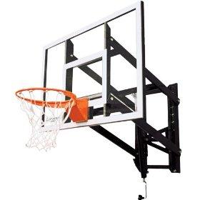 Goalsetter Systems GS54 Wall-Mount Adjustable Basketball Hoop with 54 Glass Backboard