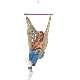 Soft Polyester Rope Hammock Chair with Pillow and Hardware Made in USA 3 Years Warranty