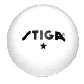 Stiga T68759 1-Star White Stiga Table Tennis Balls (1 Gross-144)