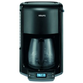 Krups FME2-14 12-Cup Programmable Coffeemaker with Glass Carafe, Black