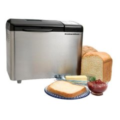 Breadman TR2500BC Ultimate Stainless Steel Breadmaker, brushed stainless and black