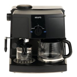 Krups XP1500 Coffee and Espresso Combination Machine, Black