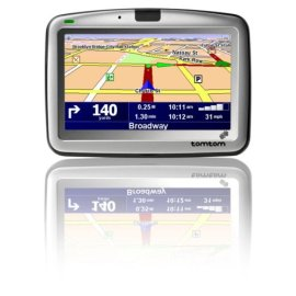 TomTom GO 910 Portable GPS Vehicle Navigator - Black & Gray