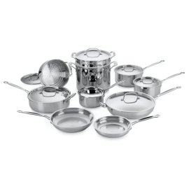 Cuisinart Chef's Classic Stainless 17-Piece Cookware Set (77-17)