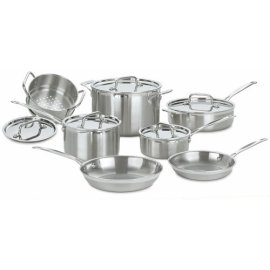 Cuisinart MCP-12 Multiclad Pro Stainless-Steel 12-Piece Cookware Set
