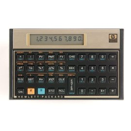 HP 12C Financial Calculator - Black Gold