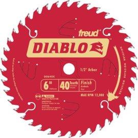 Diablo D0640X 6 x 40-Tooth ATB  Trim Saw Blades 1/2Arbor