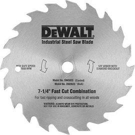 DEWALT DW3325 7-1/4 40-Tooth Steel Combo Saw Blade