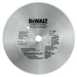 DEWALT DW3326 7-1/4 140-Tooth Steel Hollow Ground Plywood Saw Blade