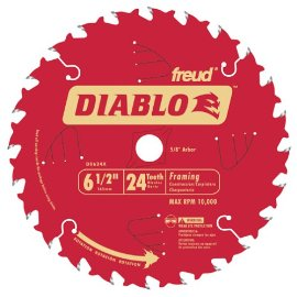 Diablo D0624X 6-1/2 x 24-Tooth Carded ATB Framing Blade