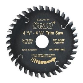 Freud D0436X 4 3/8 36-Tooth Diablo Cordless Trim Saw Blade 20mm Arbor(w/3/8 reducing bushing)