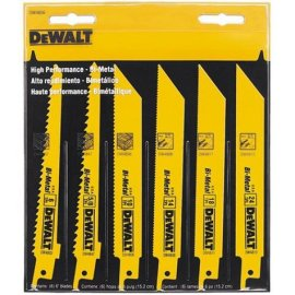 DEWALT DW4856 6-Piece Metal/Woodcutting Reciprocating Saw Blade Set