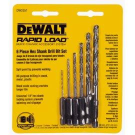DEWALT DW2551 6-Piece Hex Shank Drill Set