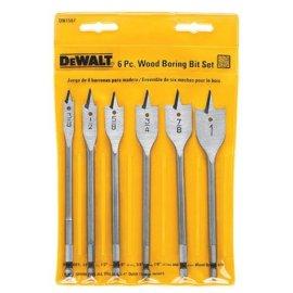 DEWALT DW1587 6-Piece Spade Bit Set