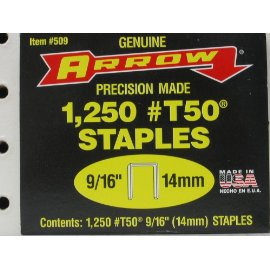 Arrow Fastener 509  9/16 T50 Staples (1,250-Pack)