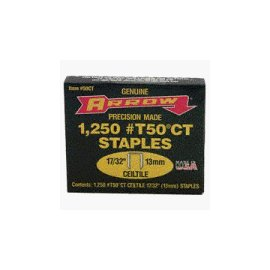 Arrow Fastener 50CT  17/32 Ceiltile T50 Staples (1,250-Pack)