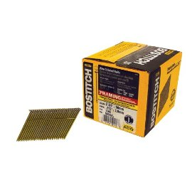 Bostitch S8DGAL  THICKCOAT 2 3/8 x .113 Smooth Shank 28° Wire Collated Stick Framing Nails - 2000 Count