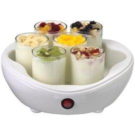 Salton YM7 Yogurt maker with 7 individual cups, white