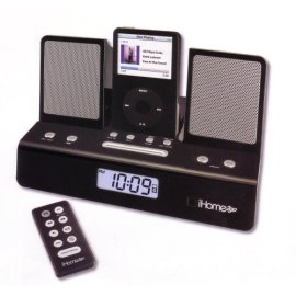 iHome IH26B Portable Travel Alarm Clock Black