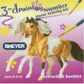 Breyer Horses - Model Horse 3D Paint By Number Kit