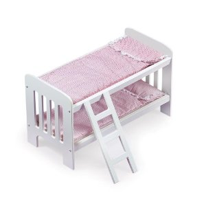 Wooden Doll Bunk Beds with Ladder for 20 Dolls