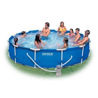Intex 12'x30 Family Size Metal Frame Pool Set with Pump (56995EG)