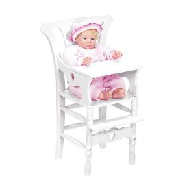Deluxe Solid Wood High Chair Doll Furniture