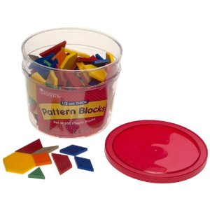 1/2cm Plastic Pattern Blocks (Set of 250)