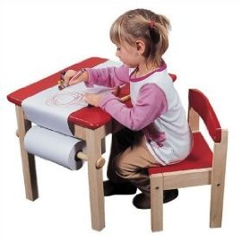 Art Table and Chair Set - Red